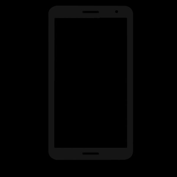 Flat smartphone frame, 16:9