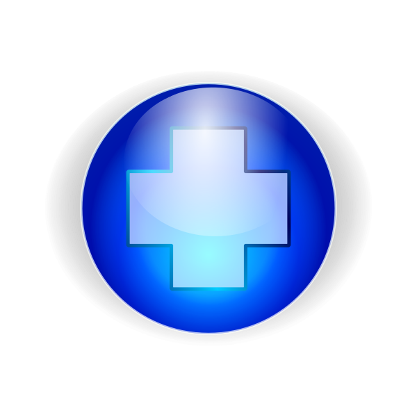 blue crux button