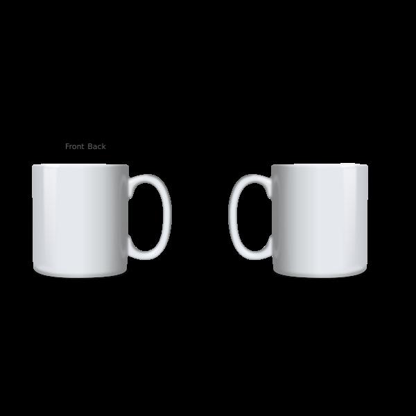 White Mug Template