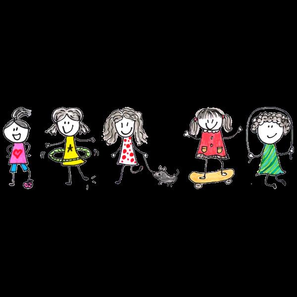 Girls Playing By Zizitom
