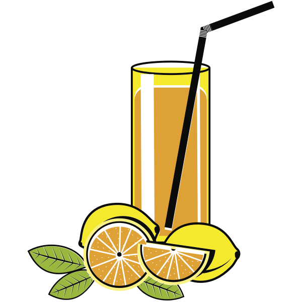 Glass of lemonade