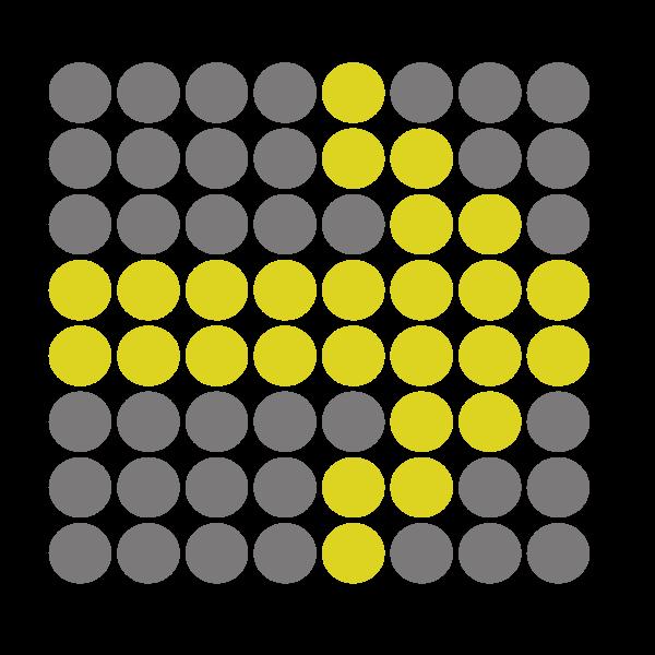 Arrow made of dots