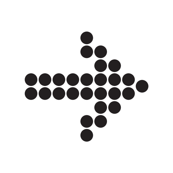 Arrow with black dots