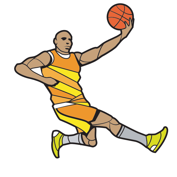 Basketball player silhouette cut file