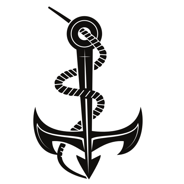 Anchor silhouette cut file