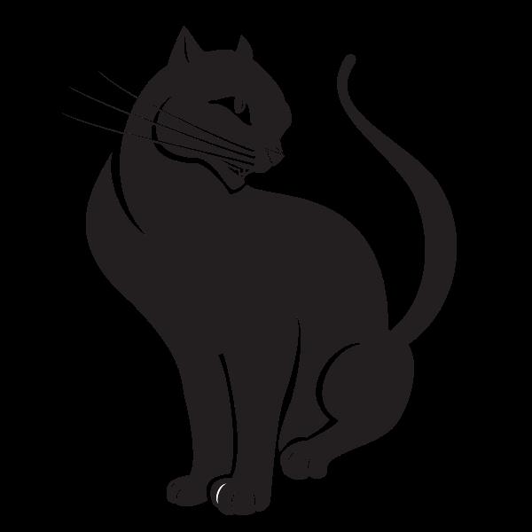 Download Cat silhouette clip art | Free SVG