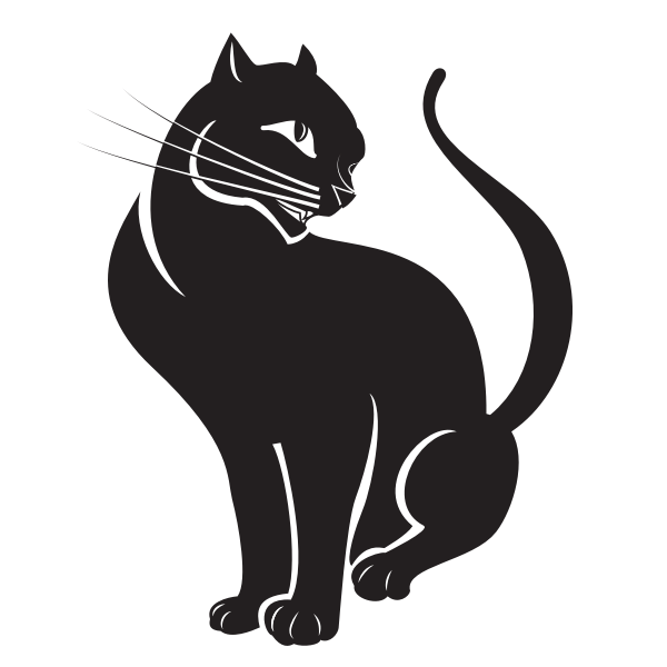 Cat silhouette clip art