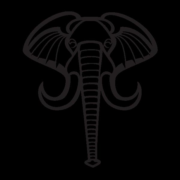 Elephant graphics silhouette