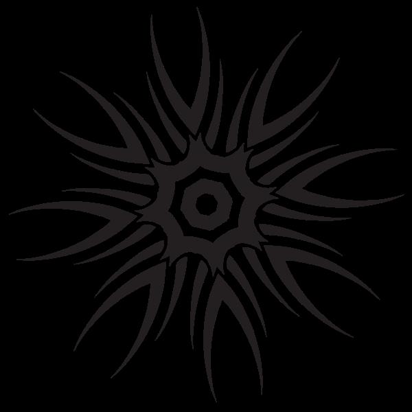 Tribal star silhouette
