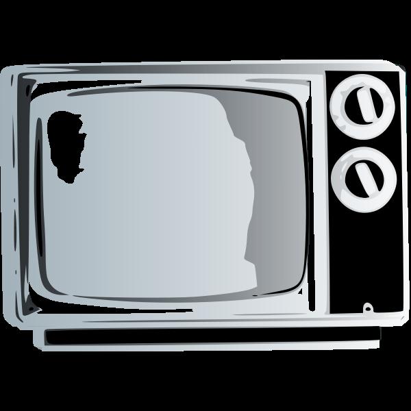 TV set clip art graphics
