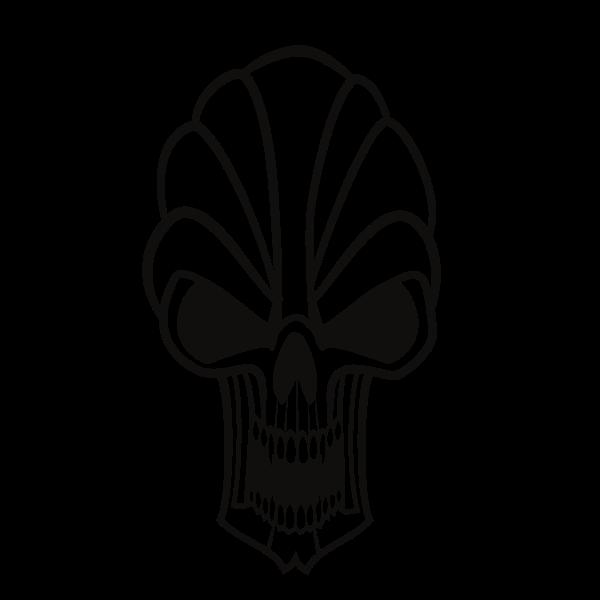 Skull monochrome clip art