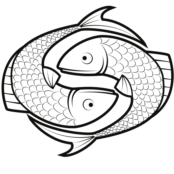 Pisces horoscope symbol