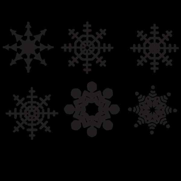 Snowflakes set clip art