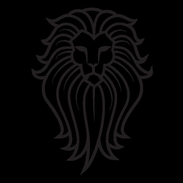 Lion silhouette clip art
