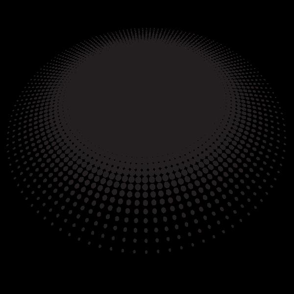 Halftone graphic design element