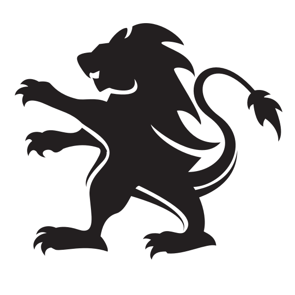 Lion outline silhouette