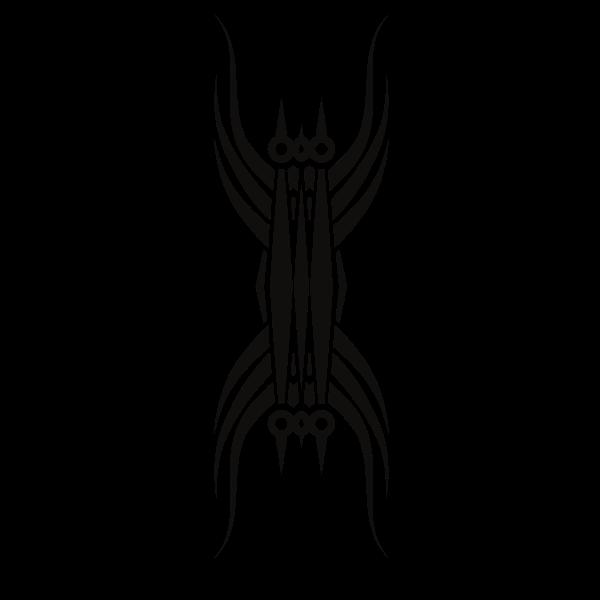 Tribal art tattoo design