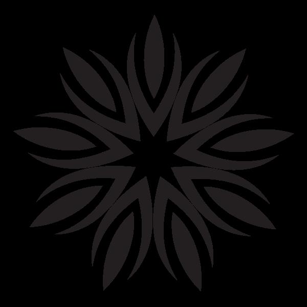 Flower design shape