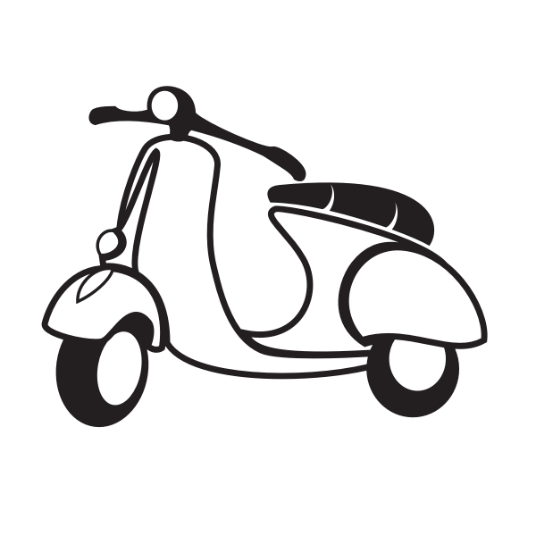 Scooter motorbike silhouette