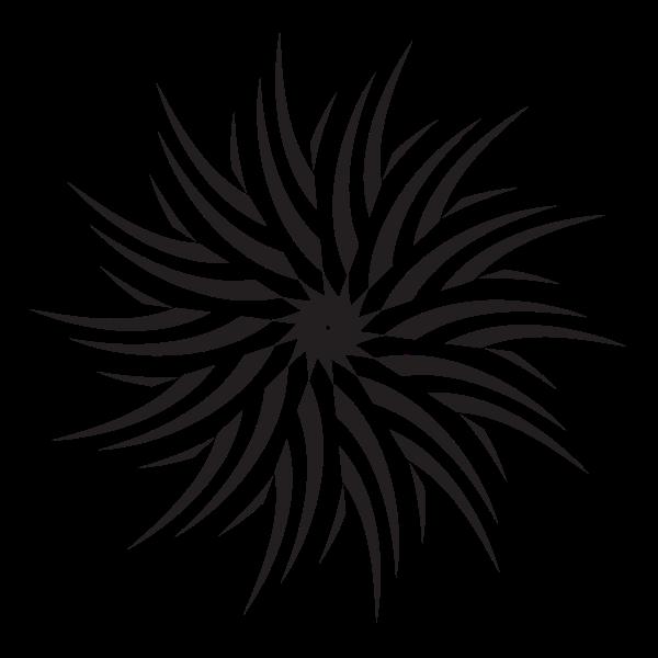 Floral clip art design
