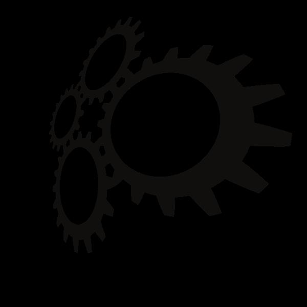 Gears silhouette