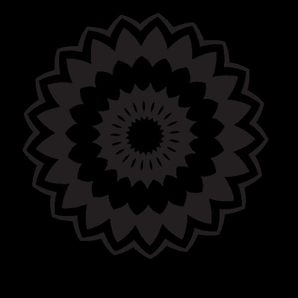 Flower design monochrome art