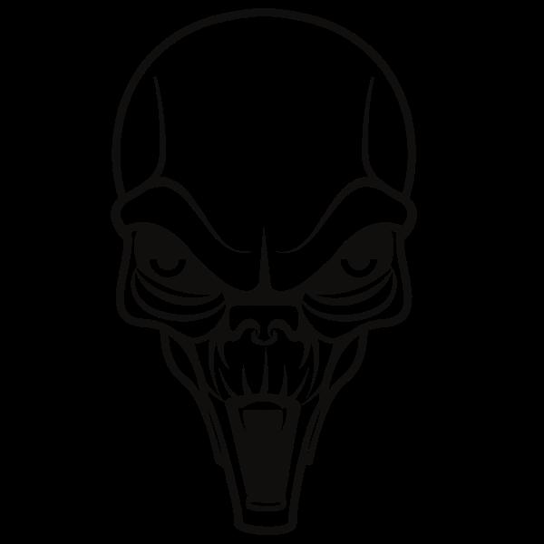 Alien skull silhouette