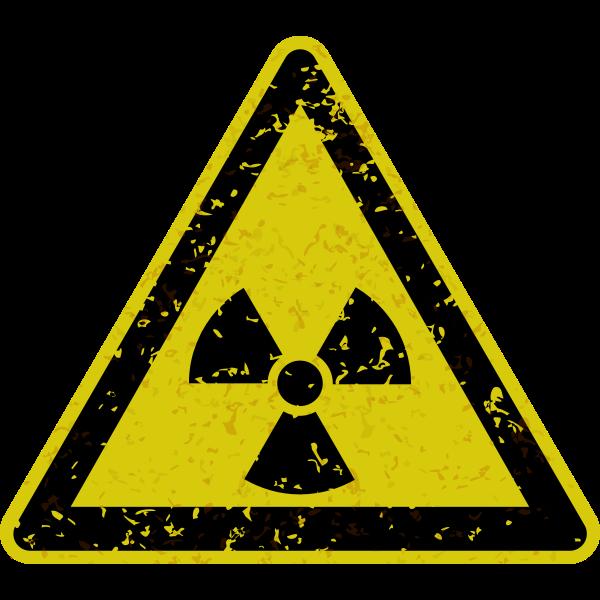 Grungy radiation warning