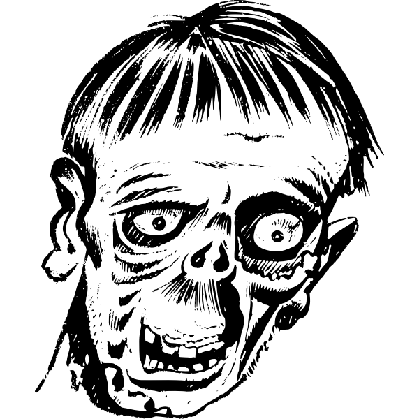 Zombie head | Free SVG