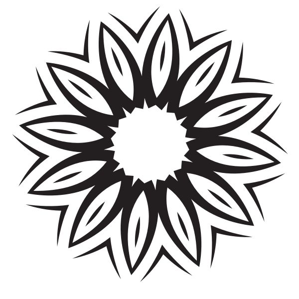 Floral silhouette cut file