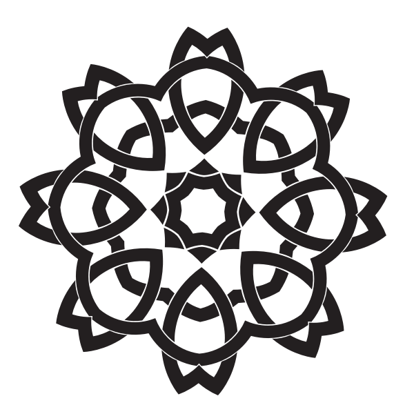 Celtic knot silhouette clip art