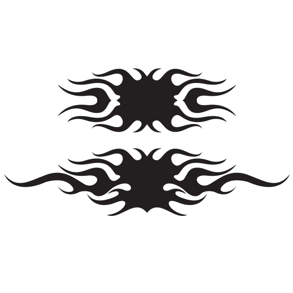 Flames silhouette clip art