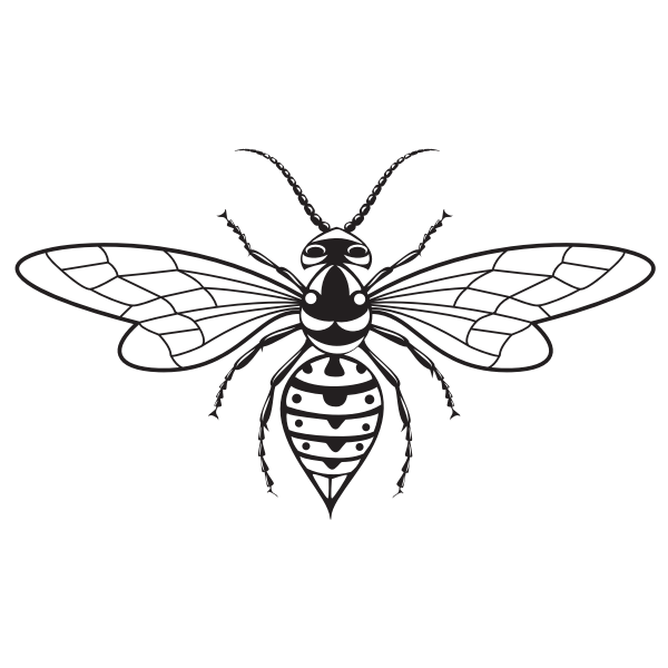 Wasp silhouette clip art