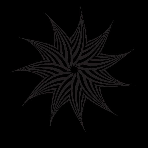 Tribal star clip art