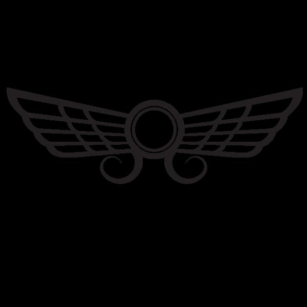 Wings silhouette clip art