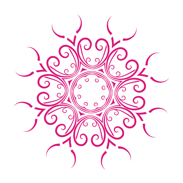 Floral ornament clip art graphics