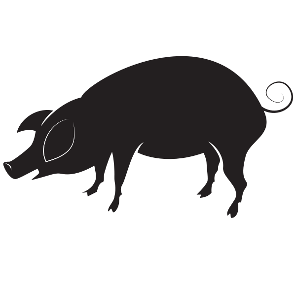 Pig silhouette graphics