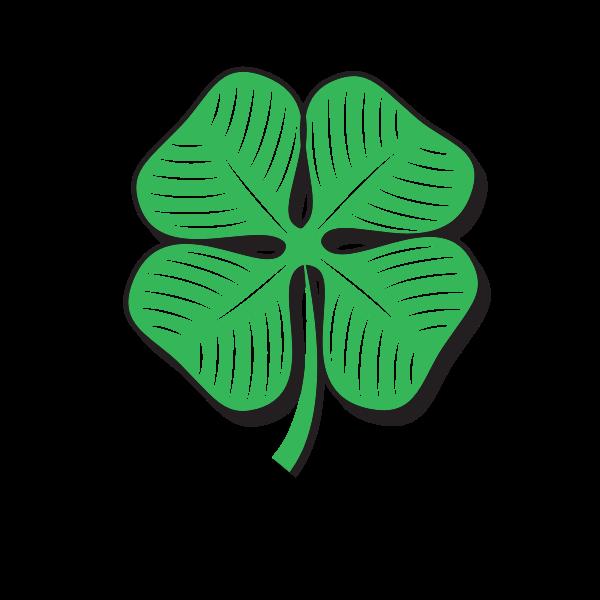 Green shamrock symbol