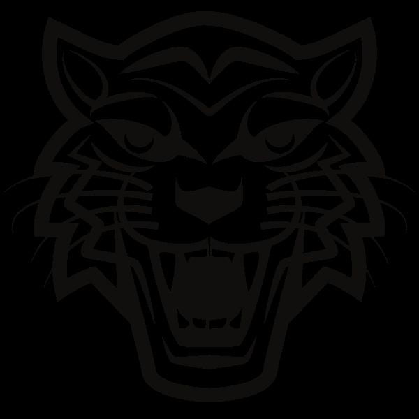 Tiger's head silhouette