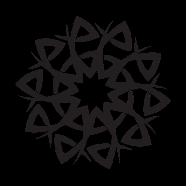 Tribal star graphic clip art