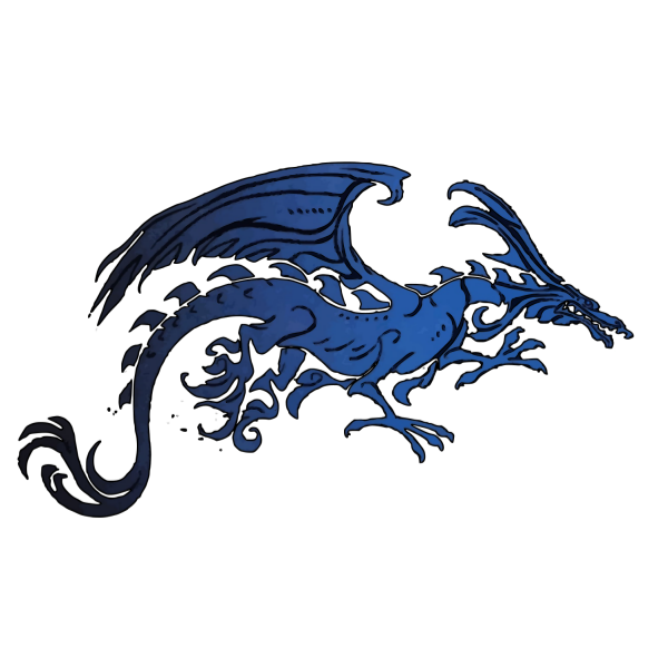 Black and Blue Tribal Dragon