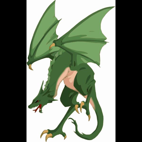 Green cartoon dragon