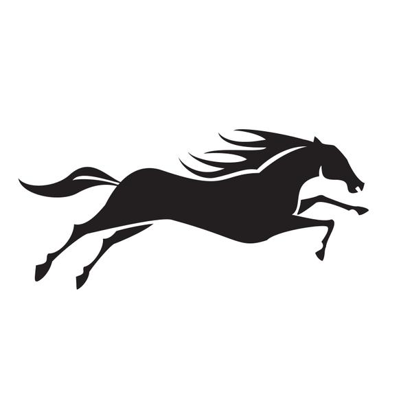 Horse running silhouette clip art