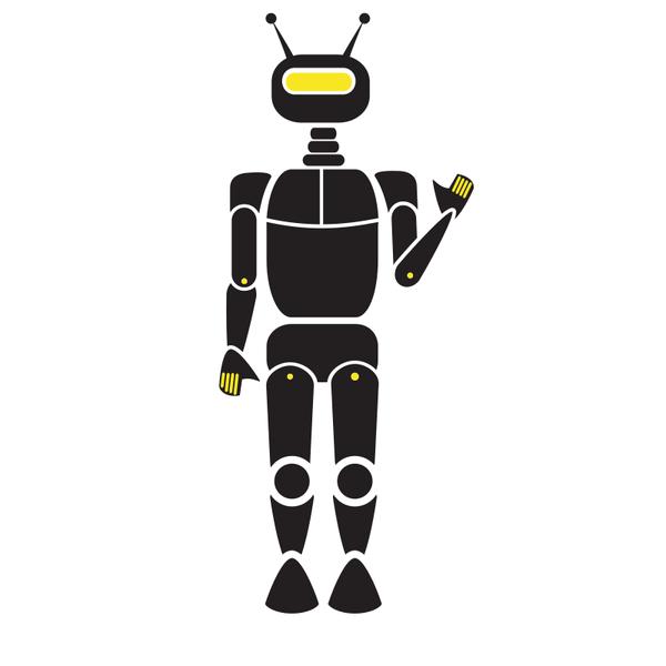 Robot silhouette clip art