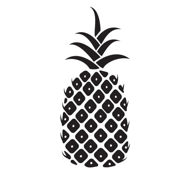 Pineapple silhouette graphics