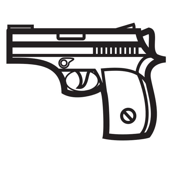 Handgun silhouette clip art