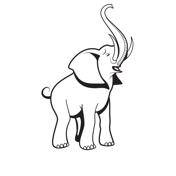 Baby elephant silhouette clip art