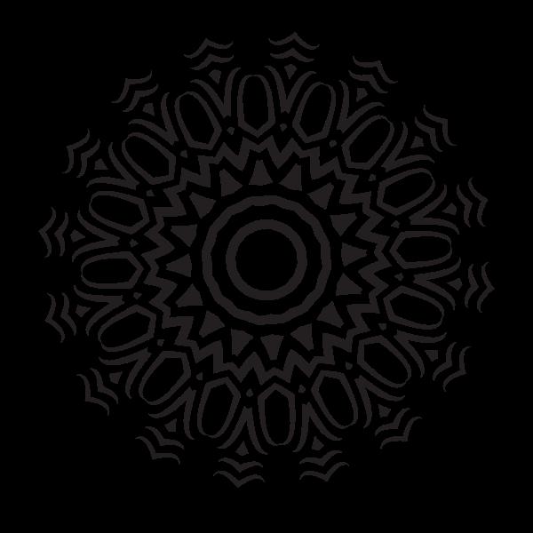 Tribal tattoo design element