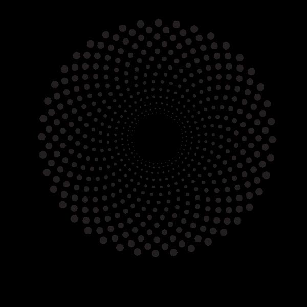 Halftone design round shape