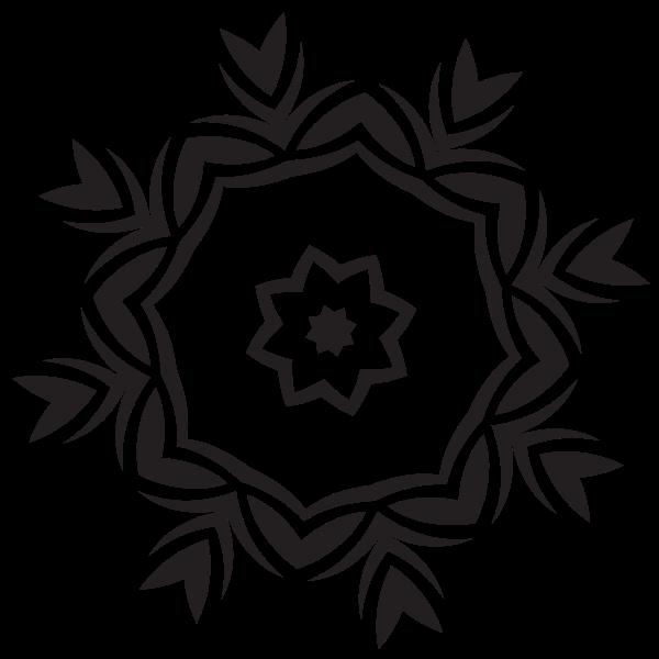 Floral decoration silhouette graphics